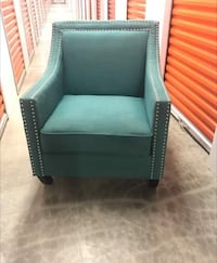 Turquoise arm chair