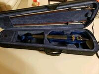 black and blue violin with case Springfield, 65807