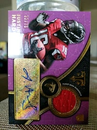 Falcons Justin Hardy certified card Paramount, 90723