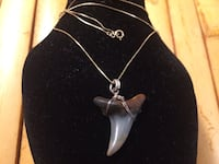 Solid 14 k gold chain. Shark tooth pendant Mississauga, L4W 3V2
