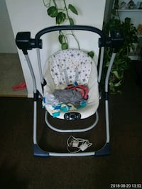 baby's white and black swing chair Frederick, 21701