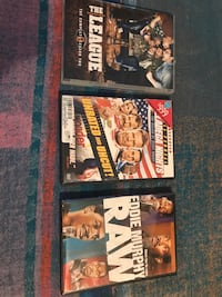 3 Movie DVDs. Sold separately