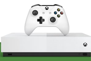 Xbox one s w/ two controllers