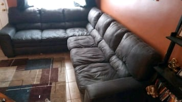 Soft Genuine Leather Sectional Sofa