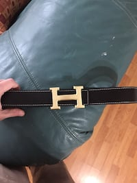 gold-colored Hermes with black leather belt Halifax, B3S 1R5