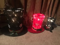 3 piece Christmas light up top hats with snowflakes decorations  Holmdel, 07733
