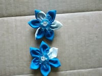 blue and white floral accent headband Reading, 19601