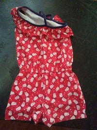 red and white floral sleeveless dress Anderson, 96007