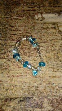 beaded blue and silver-colored bracelet Johnson City