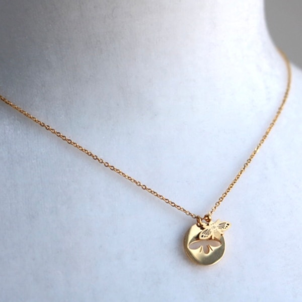 Necklace bees simple surgical stainless steel fashion 8502eba1-4ee6-469a-a83f-63f47a17dc55