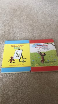 Two Curious George books Frederick, 21704