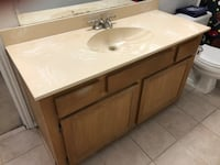 Bathroom Vanity with Marble top (reasonable offers accepted) Mesquite