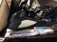 Black-grey-and-purple air jordan basketball shoes with box Brandon, 39047