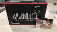 Brand new Riedel Accanto Wine Glasses with wine marker and bottle stopper Fairfax, 22031