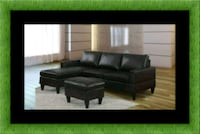 Black sectional with ottoman District Heights, 20747