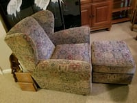 brown and green floral fabric sofa chair Woodbridge, 22191