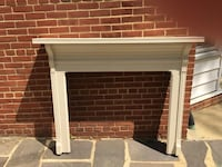 """Antique fireplace surround and mantle.  Beautiful.  Clean lines.  60"""" h x 48 & 3/8""""h University Park, 20782"""