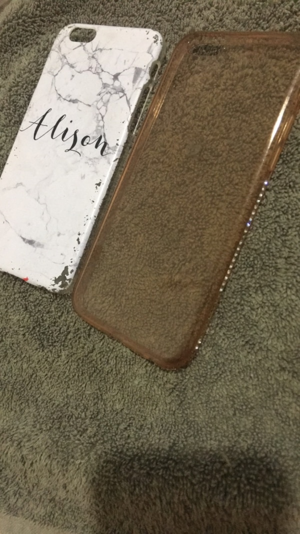 iPhone 6s used silicon And plastic case