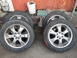 18inch rims mid condition low profile tires 255/55R18