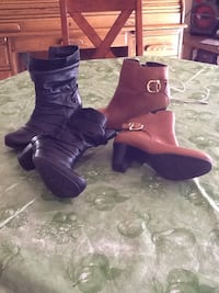 pair of purple leather heeled boots Rio Rancho, 87124