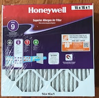 Honeywell Air Filters 16x16x1 - 2pk