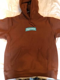Supreme Rust Brown Box Logo Hoodie  Calgary, T2E 3L4