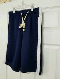 Men Navy Blue & White Track Shorts  Duncanville, 75137