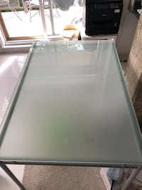 Tempered glass & steel table (for dining table of office desk) Montréal, H1E 2P6