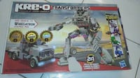 KRE-O Transformers Megatron Construction Set (30688)  Brand new in the box, never opened, box has some of the picture ripped off.  Doesn't affect the toy.    Build the ultimate Decepticon villain, Megatron, in vehicle or robot mode with this 2-in-1 set of Toronto