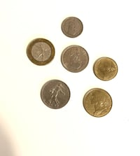 Old French Coins - Francs starting from 1960's and up