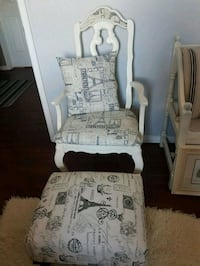 Gorgeous antique chair and foot stool  Whitby, L1N 8X2