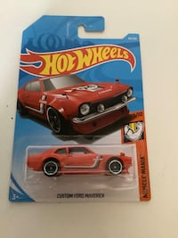 Hot wheels red custom ford maverick diecast muscle car