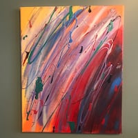 white, red, and blue abstract painting Calgary, T2Y 2S5