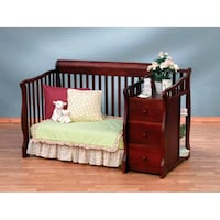 brown wooden crib with mattress Knightdale, 27545