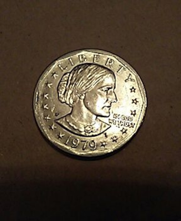 Susan B  Anthony dollar coin 1979 P