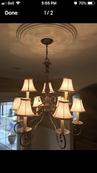 3 chandeliers for 100$ Laval, H7K 3Z5