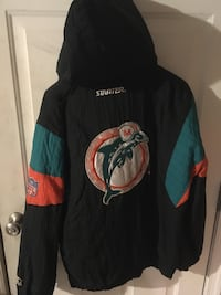 Dolphins Starter Brand pullover Jacket New Oxford, 17350