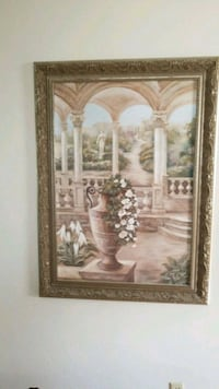 brown wooden framed painting of house Newmarket, L3Y 6A1