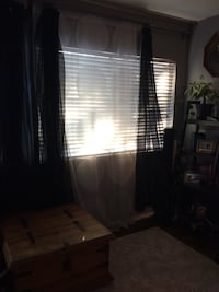 White double panel curtain (1 shown in photo) $5 for both.