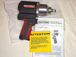 """BRAND NEW craftsman 1/2"""" air impact wrench delivers 400 ft. lbs. of max torque*PRICE FIRM"""