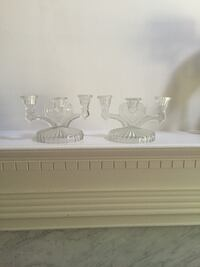 Vintage  Glass 3 tier candle holders.  Murfreesboro, 37130