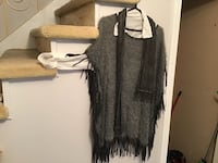 Women's black and white fringe cardigan Laval, H7W 4L3