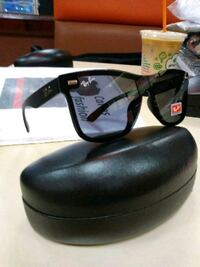 black framed Ray-Ban sunglasses with case Boston, 02101