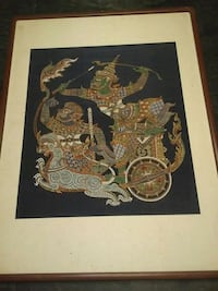 Rare korean art Tapestry Painting 26 mi