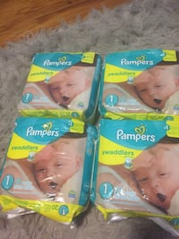 Two pampers swaddlers disposable diaper packs Silver Spring, 20903