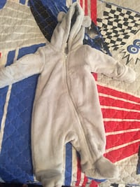 baby's grey overall suit