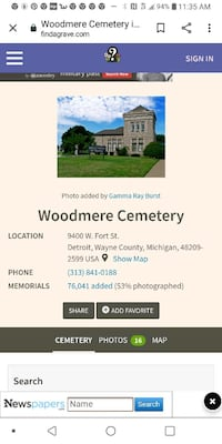 2 Cemetery Monument Plots-Woodmere Cemetery