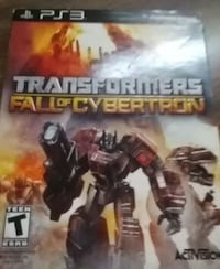ps3 transformers fall of cybertron game Maryland, 21085