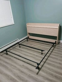 black and brown wooden bed frame Surrey, V3W 0T1