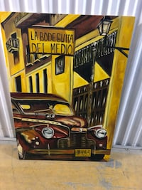 Large auto art oil on canvas painting Toronto, M2R 3N1